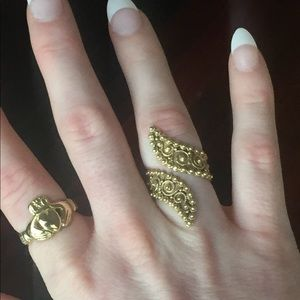 Jewelry - RARE 14k HEAVY Etruscan Revival Ring 8 12 Grams